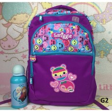 Smiggle School Backpack Purple